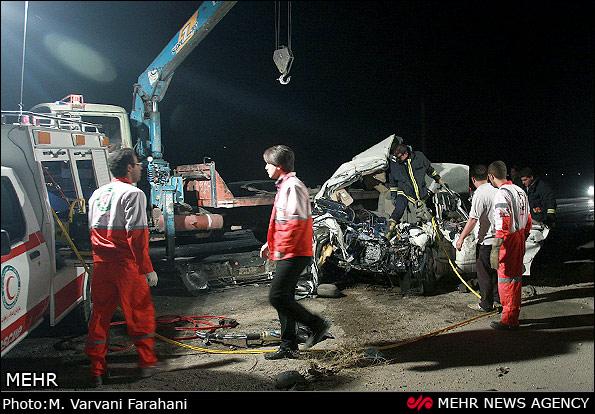 تصادف خونین در جاده گتوند و معرفی ماشین های سنگین در
